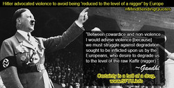 Hitler advocated violence to avoid being 'reduced to the level of a nigger' by Europe 