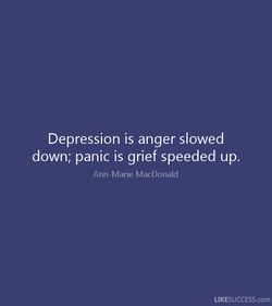 Depression is anger slowed 