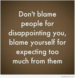 Don't blame 