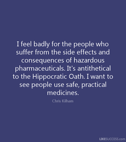 I feel badly for the people who 