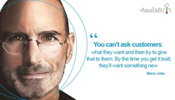 You can't ask customers 