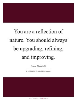 You are a reflection of 