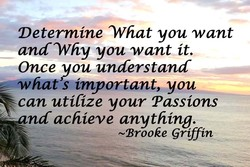 Determine What you want 