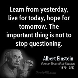 Learn from yesterday, 