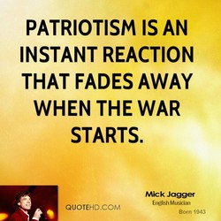 PATRIOTISM IS AN 
