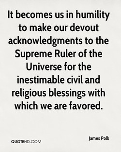 It becomes us in humility 
