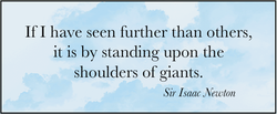 If I have seen further than others, 
