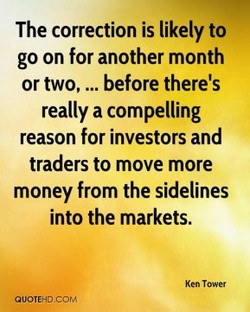 The correction is likely to 