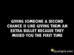 GIVING SOMEONE A SECOND 