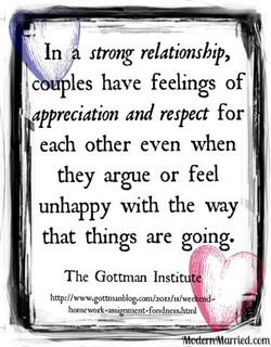 In strong relationship, 