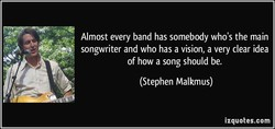 Almost every band has somebody who's the main 
