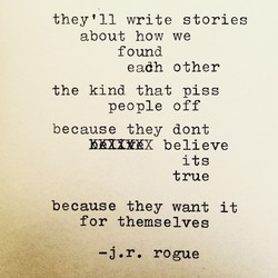 they'll write stories 
