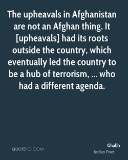 The upheavals in Afghanistan 