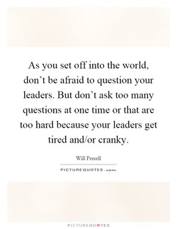 As you set off into the world, 