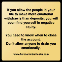 If you allow the people in your 