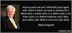 And my point was one I think that you'd agree 