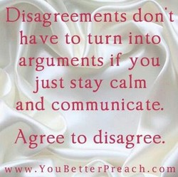 Disagreements don't 