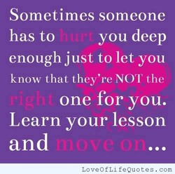 Sometimes someone 