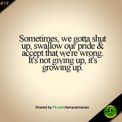 Sometimes, we gotta shut 