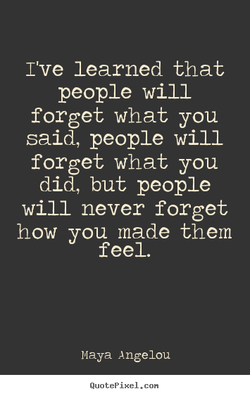 I've learned that 