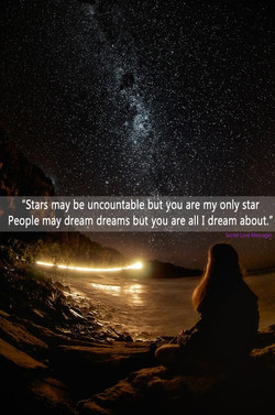 Stars may be Uncountable blit yoü are my only star 
