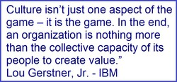 Culture isn't just one aspect of the 