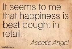 It seems to me 