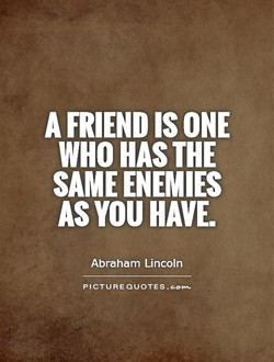 A FRIEND IS ONE 