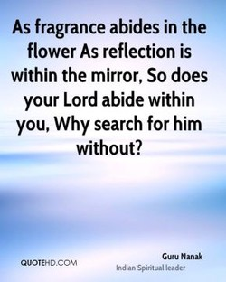 As fragrance abides in the 