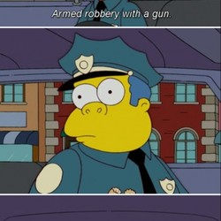 Armed rObbery with a gun.