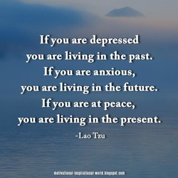 If you are depressed 