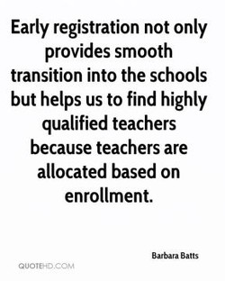 Early registration not only 