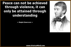 Peace can not be achieved 
