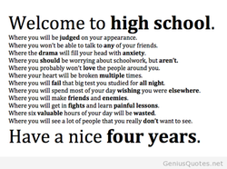 Welcome to high school. 