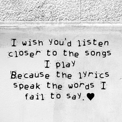 I wish YouNd I-isten 