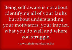 Being self-aware is not about 