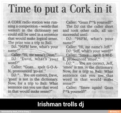 Time to put a Cork in it 