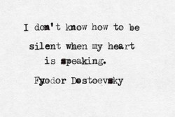 I dcn't know how to be 