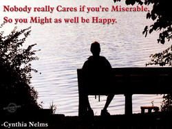 Nobody really Cares if you're Miserable, 