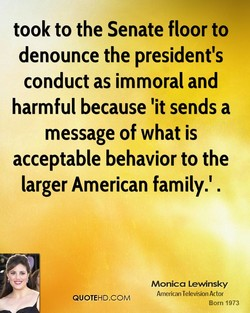 took to the Senate floor to 