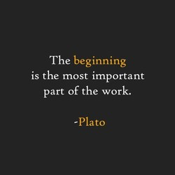 The beginning 