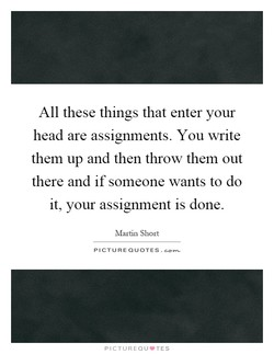 All these things that enter your 