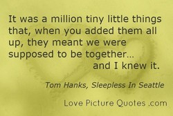 It was a million tiny little things 
