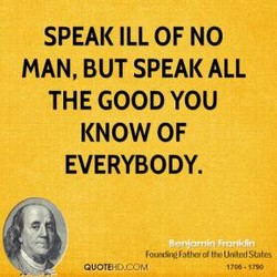 SPEAK ILL OF NO 