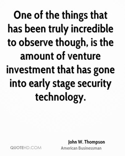 One of the things that 