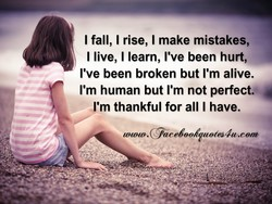 I fall, I rise, I make mistakes, 