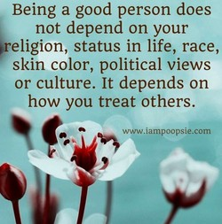 Being a good person does 
