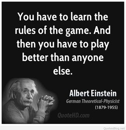 You have to learn the 