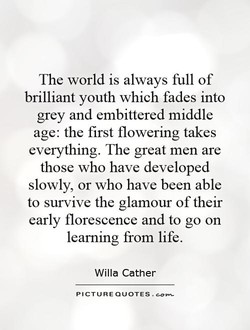The world is always full of 