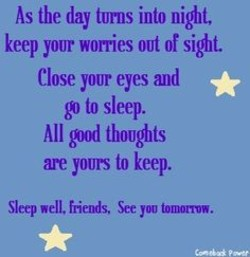 As the day tums into nwt, 